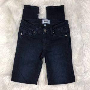 PAIGE 'Verdugo Ultra Skinny' Dark Denim Jeans 24